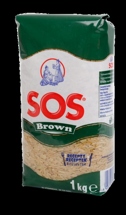 SOS Brown 1 kg - hnedá ryža, celozrnná ryža, natural ryža