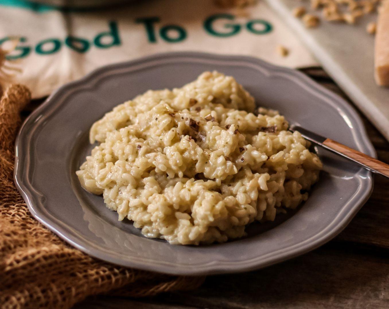 Krémová rýže s třemi druhy sýrů